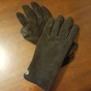 Woman's Leather Suede Gloves w Leather Tips